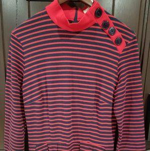 RARE! Bettie Page Tatyana Red Striped Dress XL